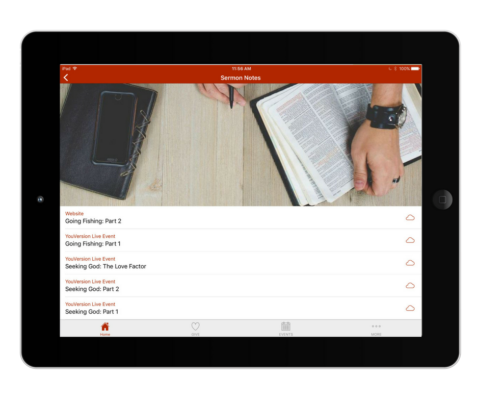 iPad App Sermon Notes