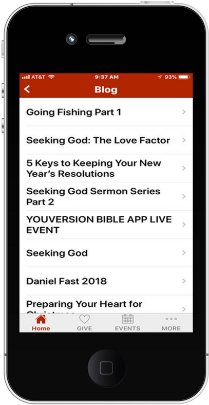 iPhone App Blog