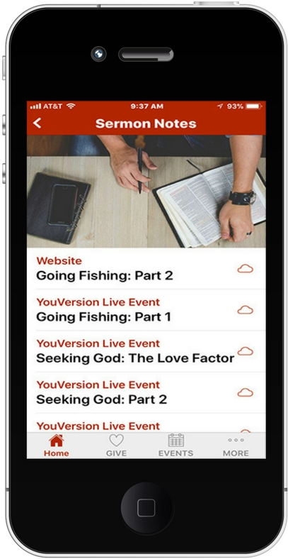 iPhone App Sermon Notes