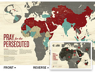 Pray for the Persecuted Map
