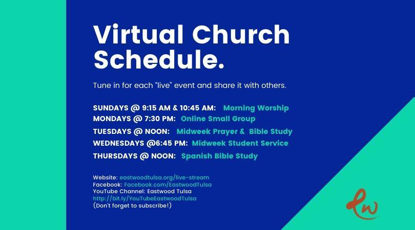 Virtual Church Schedule 810x450