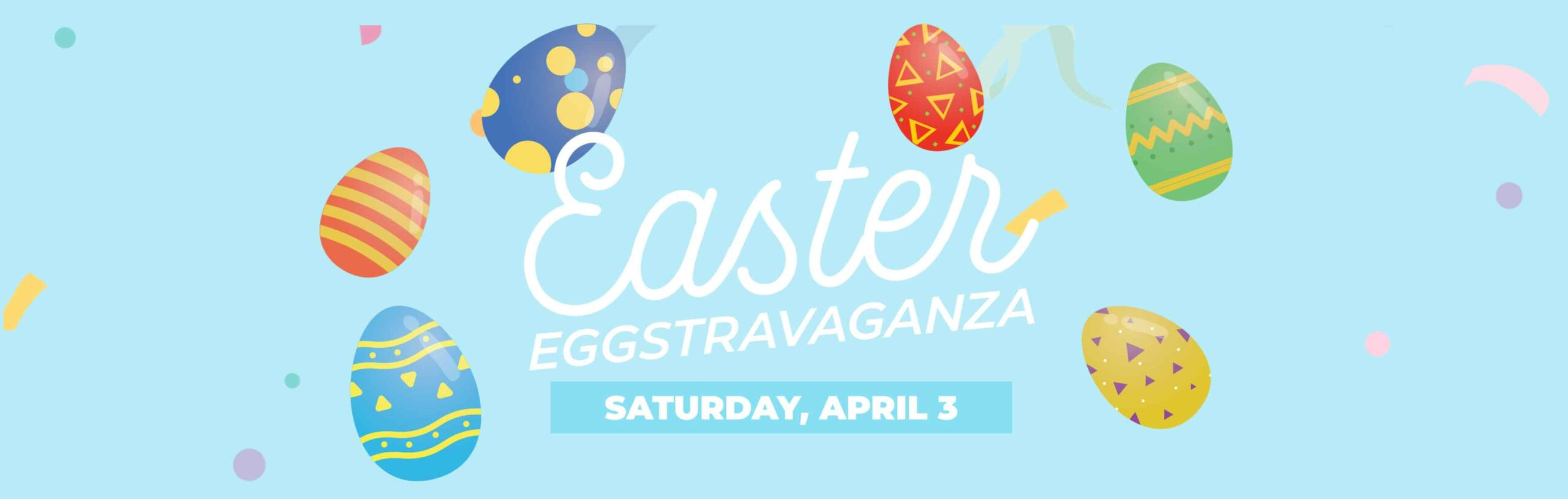 Easter Eggstravaganza Egg Graphic 3600x1100